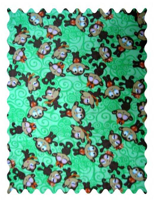Fabric Shop - Monkeys Green Fabric - Yard