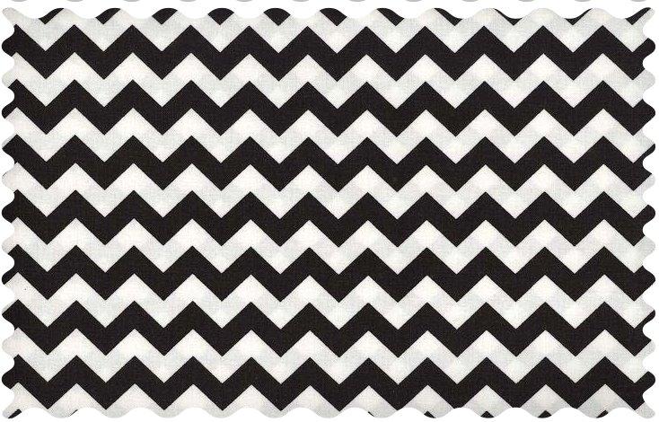 Fabric Shop – Black Chevron Zigzag Fabric – Yard