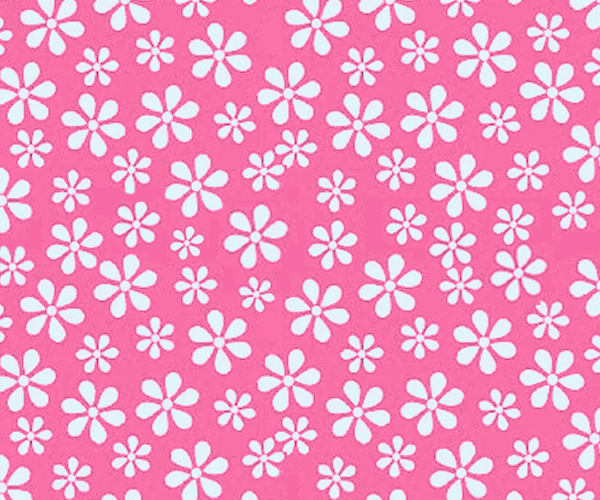 Portable / Mini Crib - Primary Pink Floral Woven - Fitted (24x39x3)