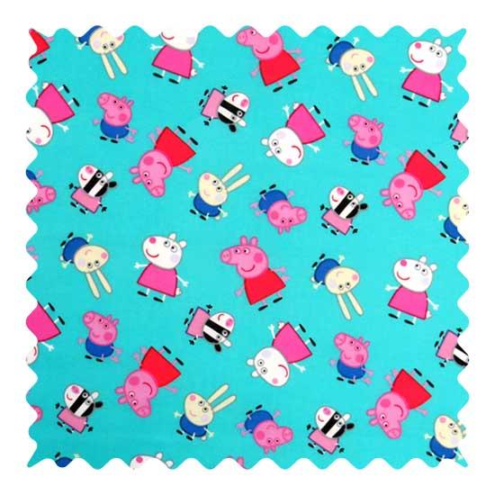Peppa Pig Aqua Fabric Fabric Shop Sheets Sheetworld
