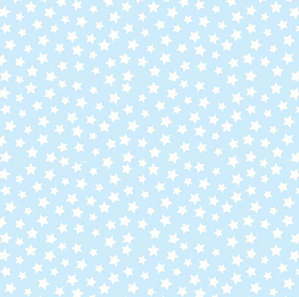 Travel Crib Light (Fits BabyBjorn) – Stars Pastel Blue Woven – Fitted