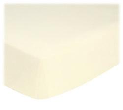 baby bedding - Organic - ORGANIC Ivory Jersey Knit EUROPEAN CRIB Sheet - Sheet Set (flat, fitted,baby pillow case) - Organic Sheets