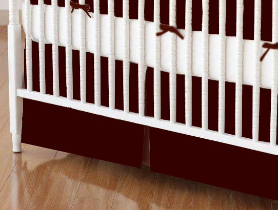Crib Skirt - Solid Brown Jersey Knit