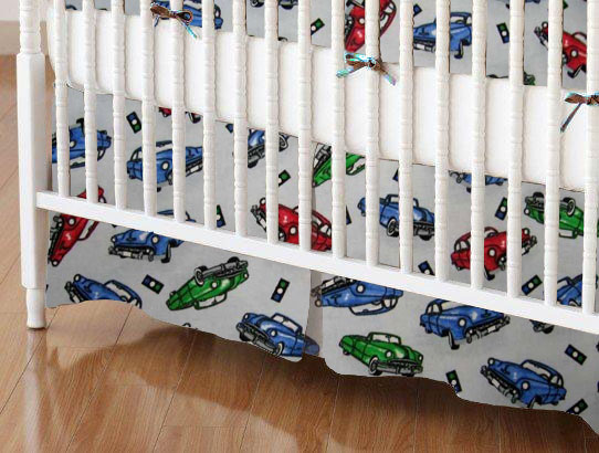 100% Cotton Flannel - Baby Transport Mini Crib Skirts
