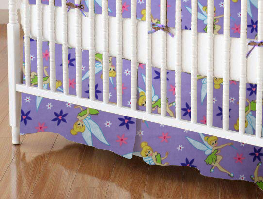 100% Cotton Flannel - Character Prints Mini Crib Skirts
