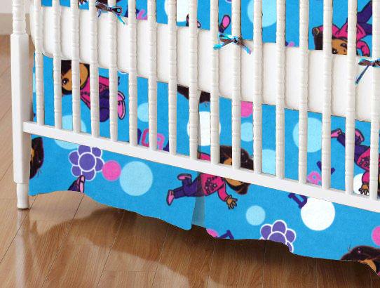 Crib Skirt - Dora Blue