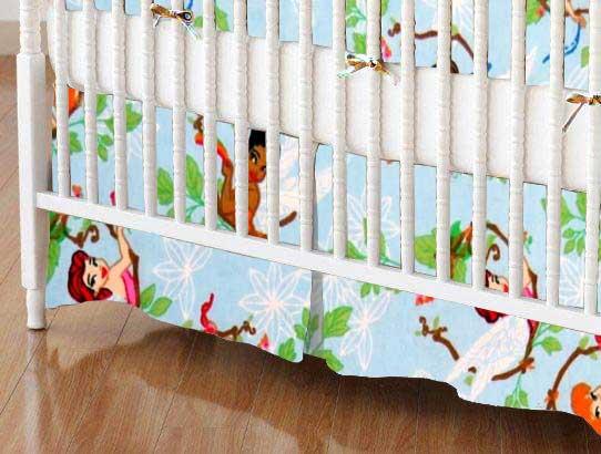 Crib Skirt - Fairies