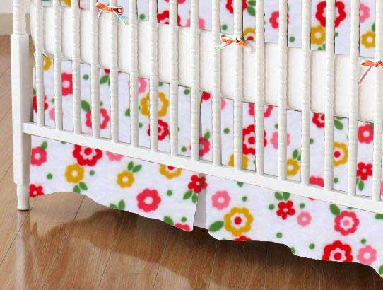 Crib Skirt - Mini Floral