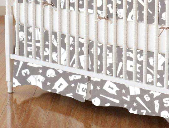 Crib Skirt - Sports Grey