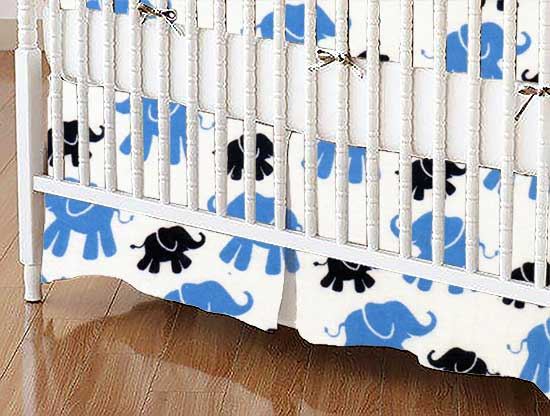 Crib Skirt - Elephants