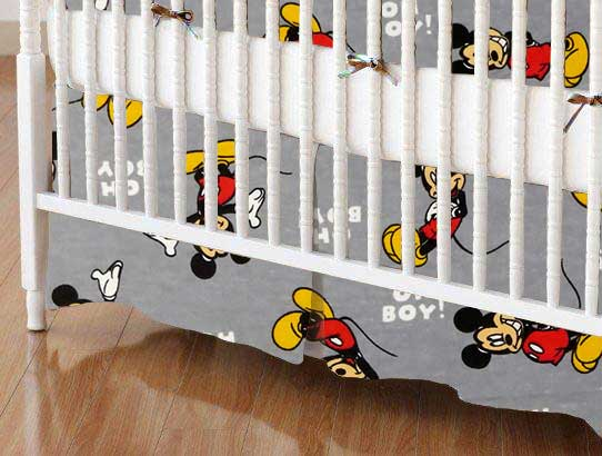 Crib Skirt - Oh Boy Mickey Mouse