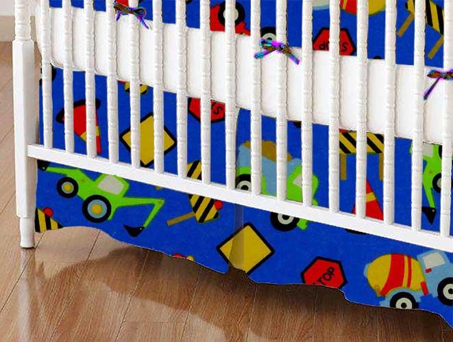 Crib Skirt - Construction Zone