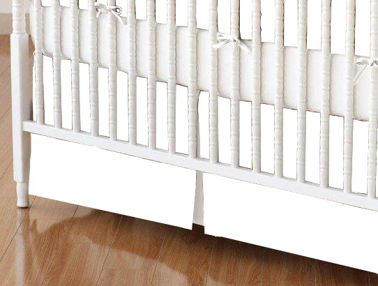 Crib Skirt - Flannel - White