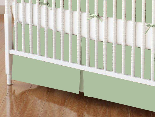 Crib Skirt - Flannel - Sage