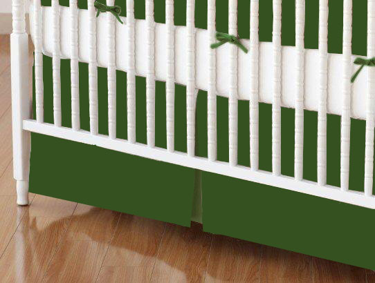 Crib Skirt - Flannel - Olive Green