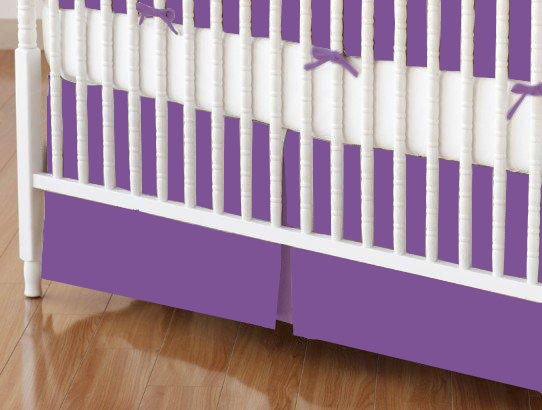Crib Skirt - Flannel - Purple