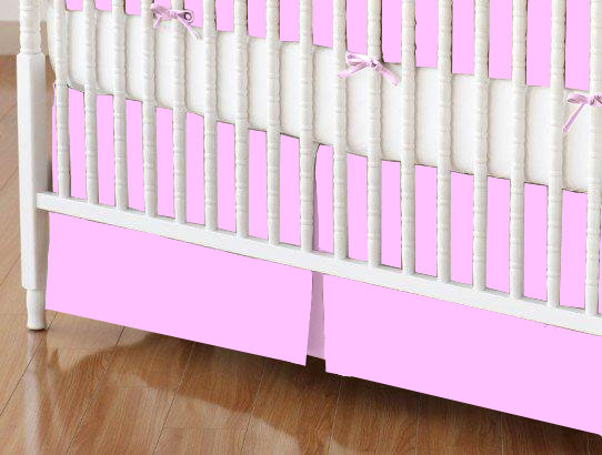 Crib Skirt - Lilac Flannel 28 x 52