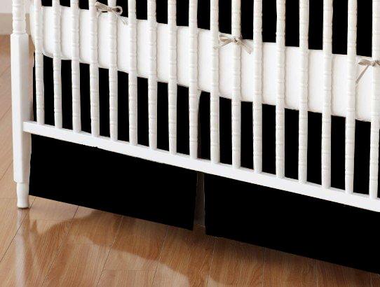 Crib Skirt - Flannel - Black