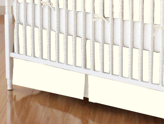 Crib Skirt - Flannel FS2 - Ivory