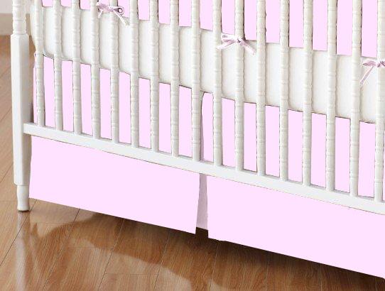 Crib Skirt - Flannel FS3 - Pink