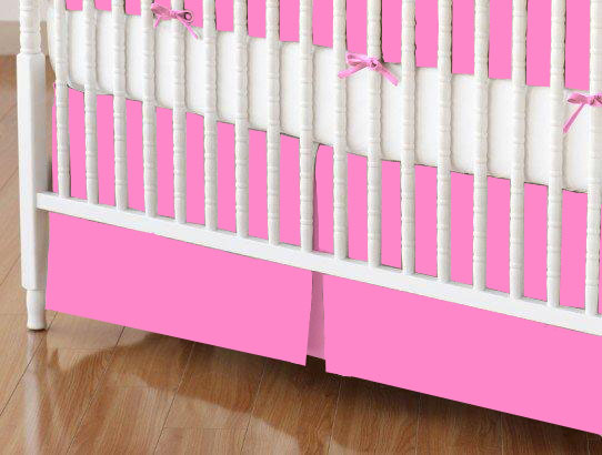 Crib Skirt - Flannel FS3A - Hot Pink