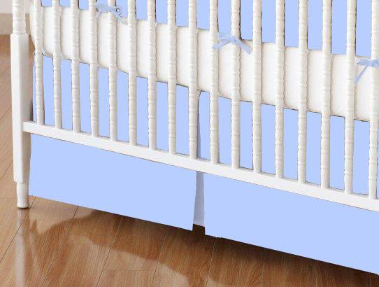 Crib Skirt - Flannel FS4 - Blue