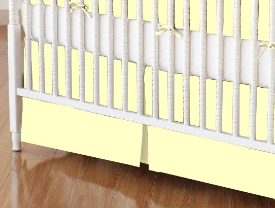 Crib Skirt - Flannel FS5 - Yellow