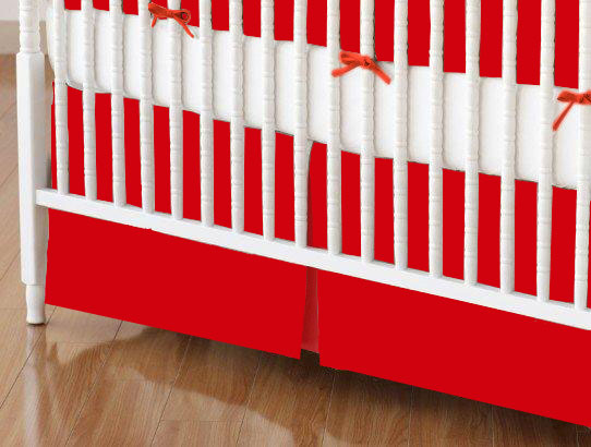 Crib Skirt - Flannel FS8 - Red