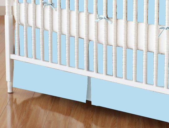 Crib Skirt - Flannel FS9 - Aqua blue