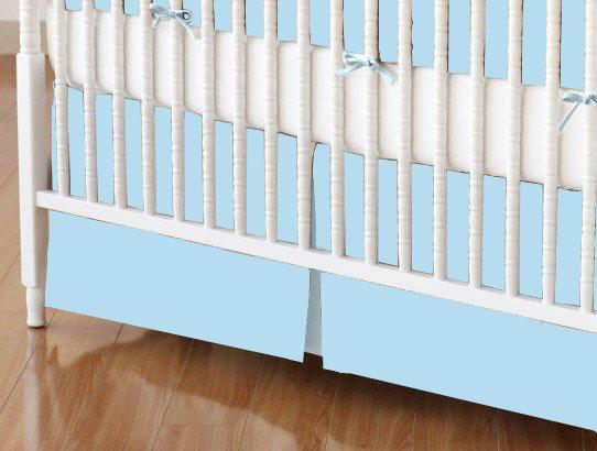 Crib Skirt - Flannel FS9 - Aqua blue