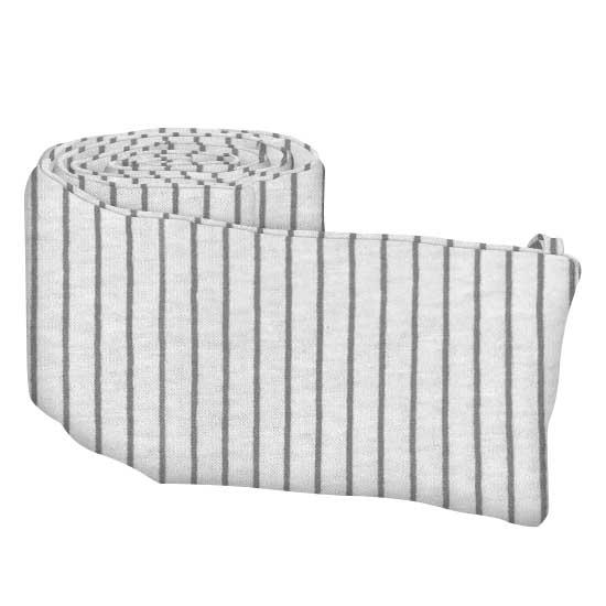 Grey Pinstripe Jersey Knit