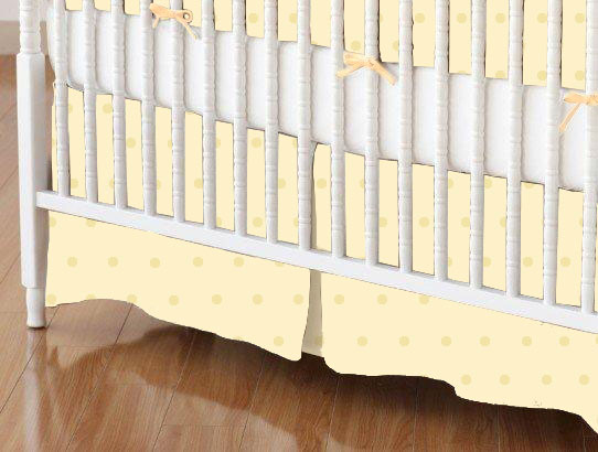 Square Playard (Graco) - Crib Skirt - Cream Pindot Jersey Knit - Fitted - 100% Cotton Jersey Knit - Soft Prints Square Sheets