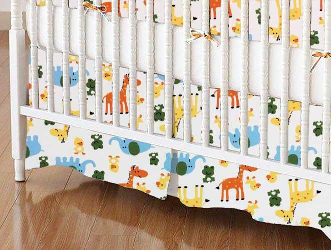 Crib Skirt - Animal Fun