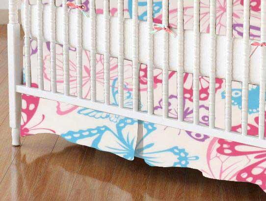 Crib Skirt - Butterflies Jersey Knit