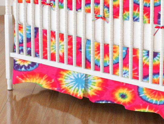 Crib Skirt - Tie Dye Jersey Knit