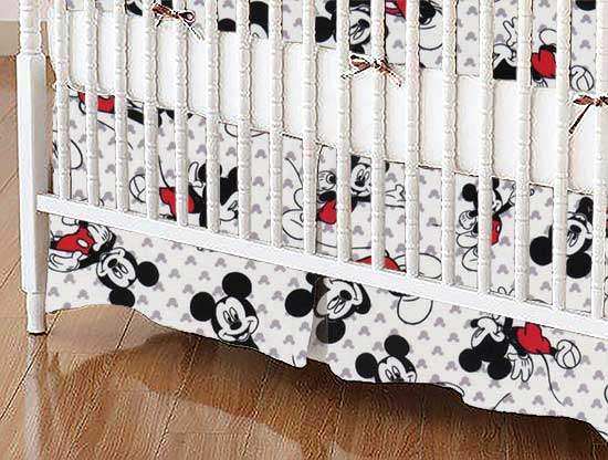 Crib Skirt - Mickey Mouse
