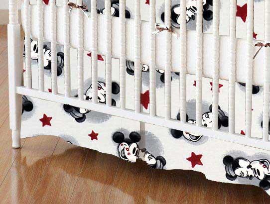 Crib Skirt - Mickey Mouse Stars