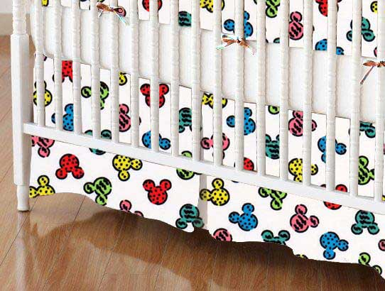Crib Skirt - Mickey Mouse Galore