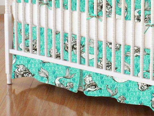 Crib Skirt - Ariel & Flounder