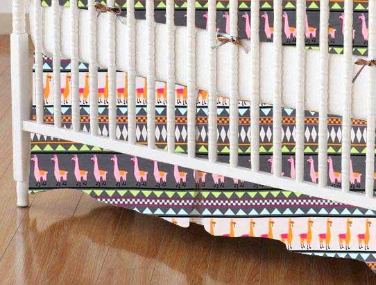 Crib Skirt - Baby Llamas