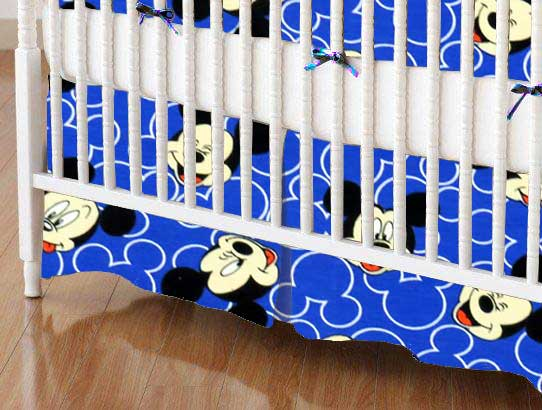 Crib Skirt - Mickey Mouse Faces