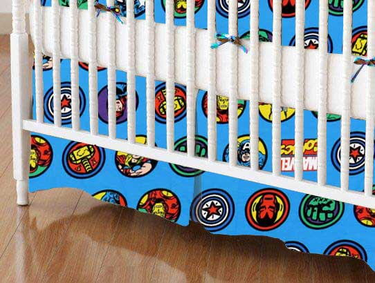 Crib Skirt - Marvel Comics