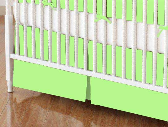 Mini Crib Skirt - Solid Lime Jersey Knit