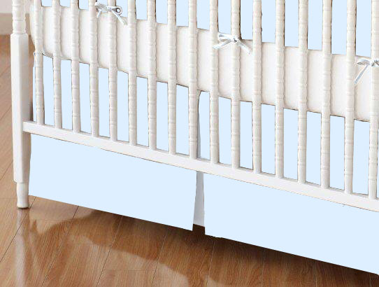 Mini Crib Skirt - Organic Baby Blue Jersey Knit