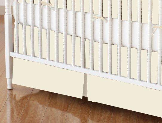 Mini Crib Skirt - Organic Ivory Jersey Knit