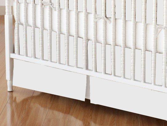 Mini Crib Skirt - Organic White Jersey Knit