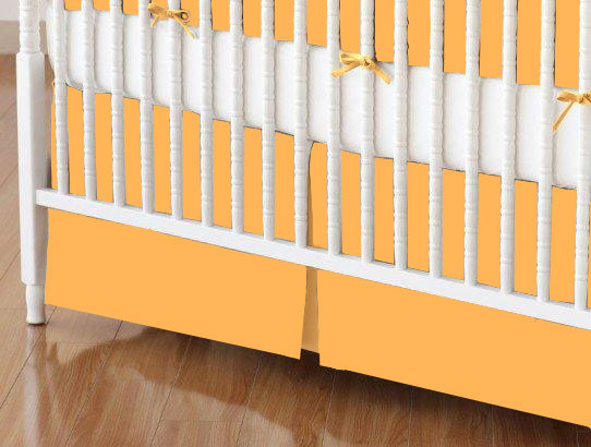 Crib Skirt - Solid Orange Jersey Knit
