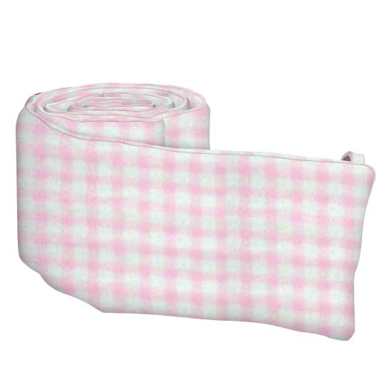 Pink Gingham Jersey Knit