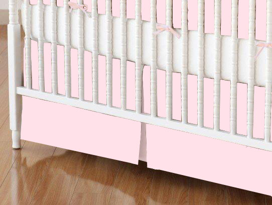 Crib Skirts - Crib Skirt - Baby Pink Jersey Knit - Tailored - 100% Cotton Jersey Knit - Solids Selection Crib Skirts