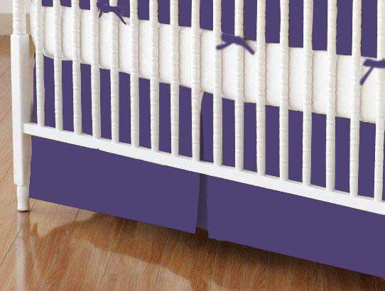 Crib Skirts - Crib Skirt - Purple Jersey Knit - Tailored - 100% Cotton Jersey Knit - Solids Selection Crib Skirts